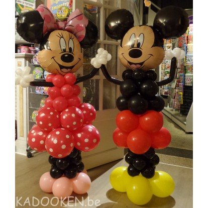 Ballonfiguur van Minnie of Mickey Mouse
