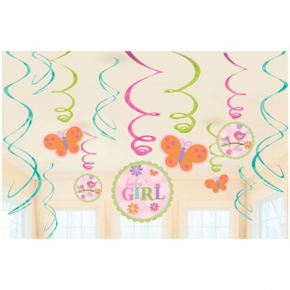 Tweet Baby Girl Pink - Swirl decoration
