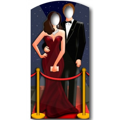 Levensgroot Kartonnen Bord - Hollywood koppel - Stand In - Cutout